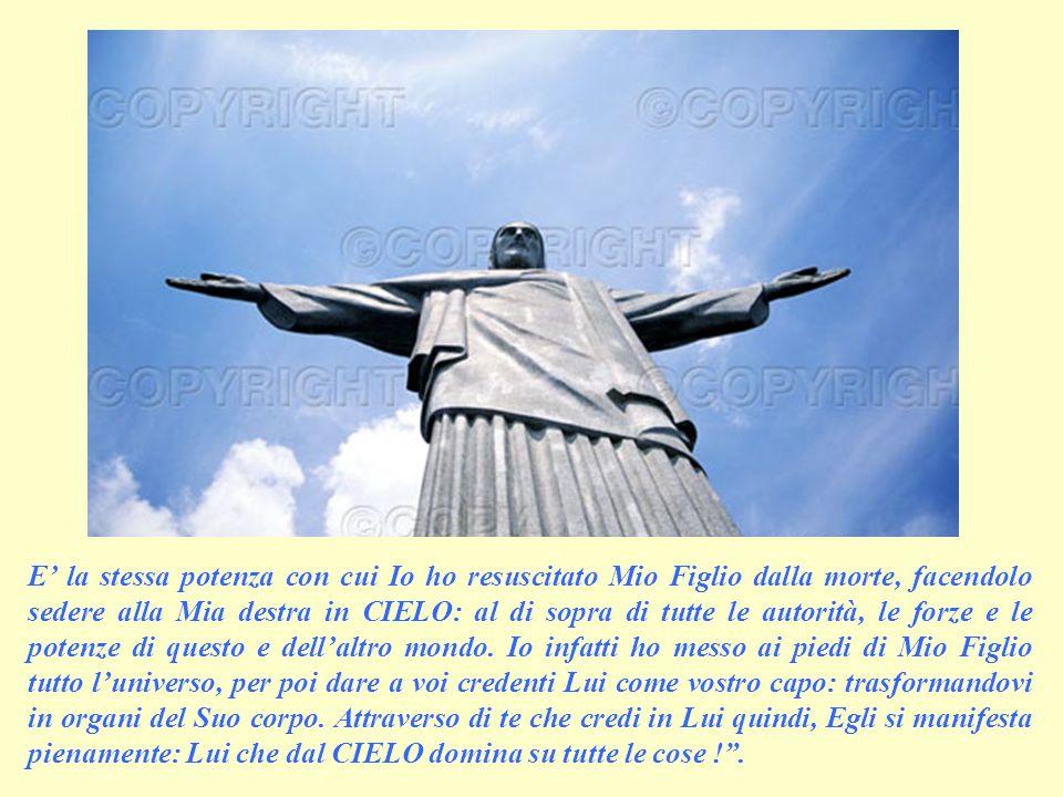 SECONDA LETTURA (dalla lettera di Paolo ai cristiani di Èfeso 1,17-23) Questa lettera è Parola di Dio.