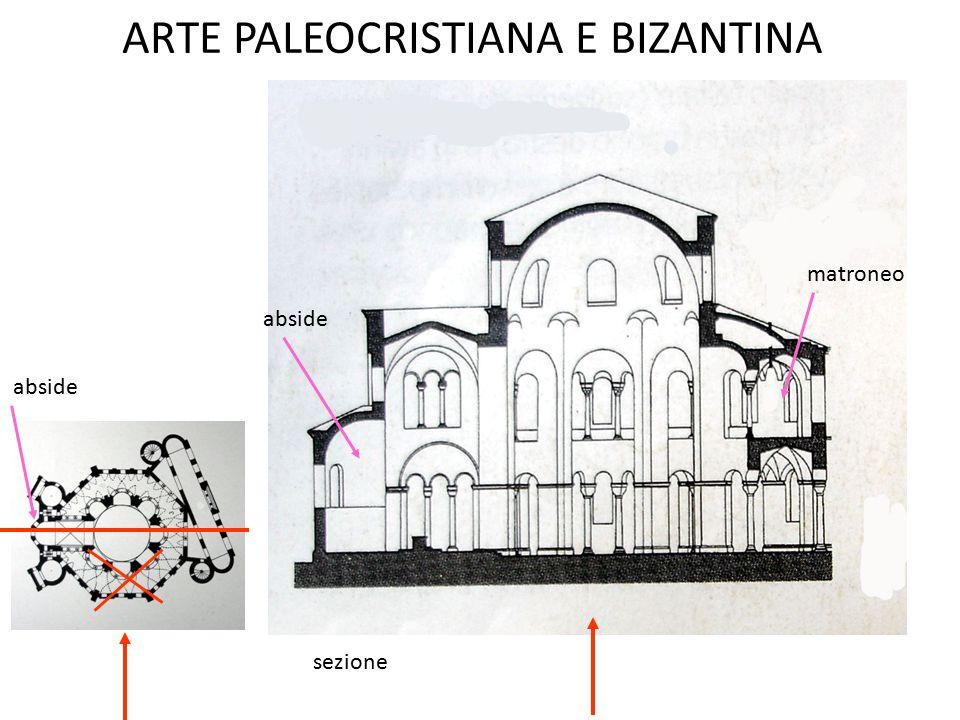 ARTE PALEOCRISTIANA E BIZANTINA sezione abside matroneo