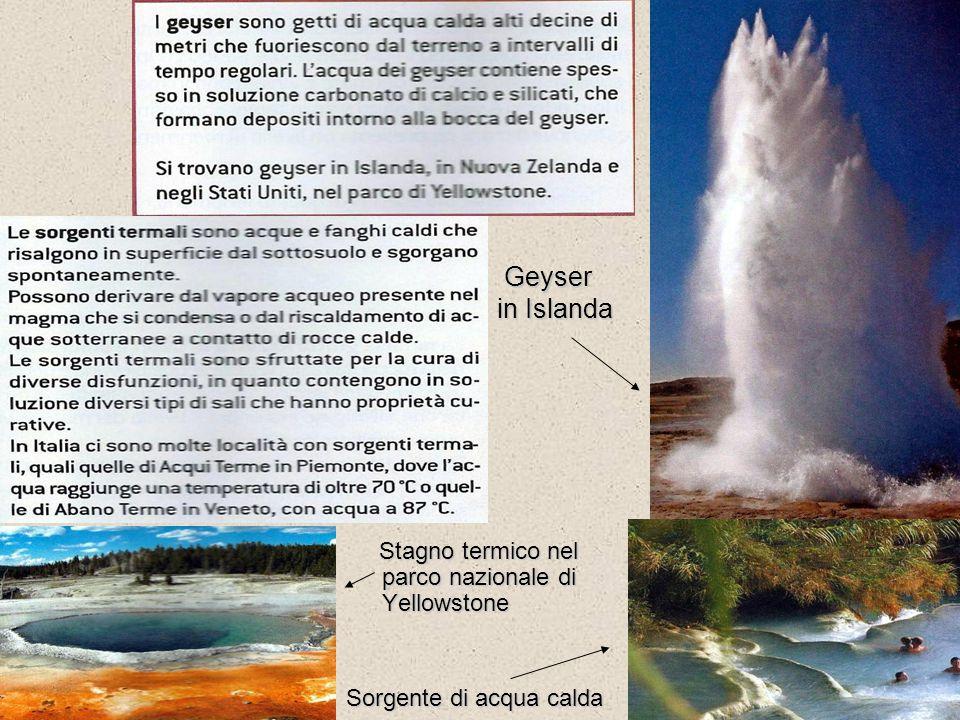 Geyser in Islanda Geyser in Islanda Stagno termico nel parco nazionale di Yellowstone Sorgente di acqua calda