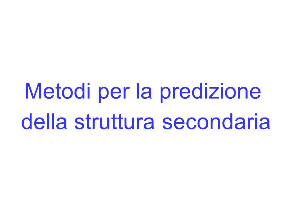 Metodi per la predizione della struttura secondaria