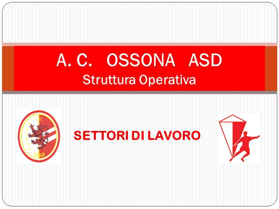 SETTORI DI LAVORO A. C. OSSONA ASD Struttura Operativa
