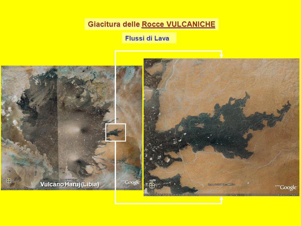 Giacitura delle Rocce VULCANICHE Flussi di Lava Vulcano Haruj (Libia)