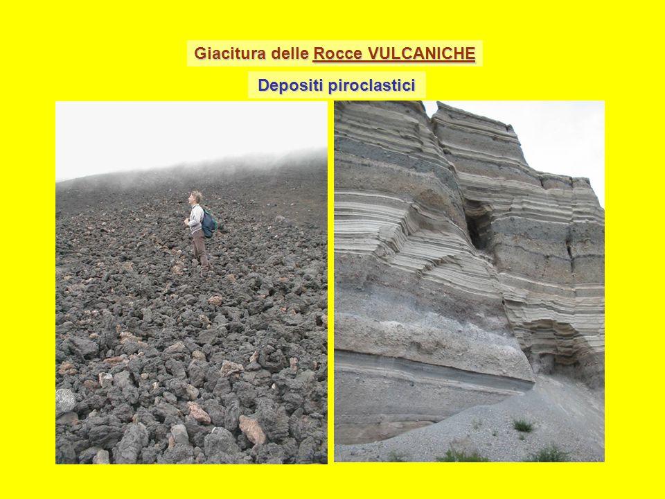 Giacitura delle Rocce VULCANICHE Depositi piroclastici