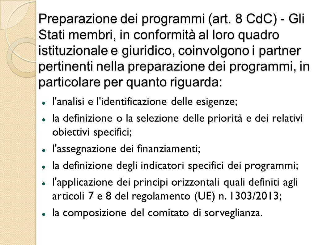 Preparazione dei programmi (art.