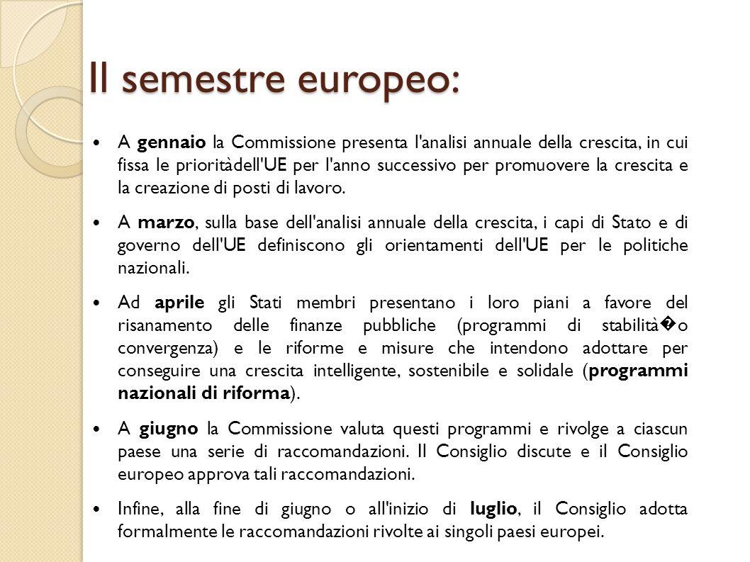 Il patto di stabilità e crescita Un elemento preventivo che impone agli Stati membri di presentare ogni anno un programma di stabilità � (paesi dell area dell euro) o convergenza (altri paesi dell UE), insieme al programma nazionale di riforma.