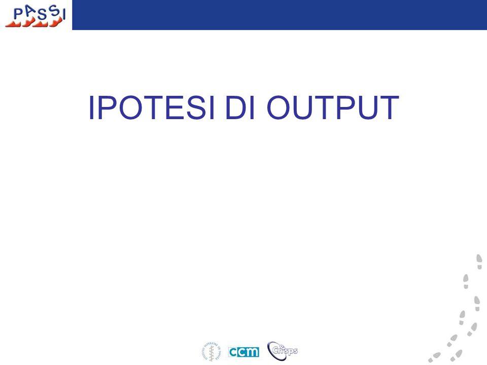 IPOTESI DI OUTPUT