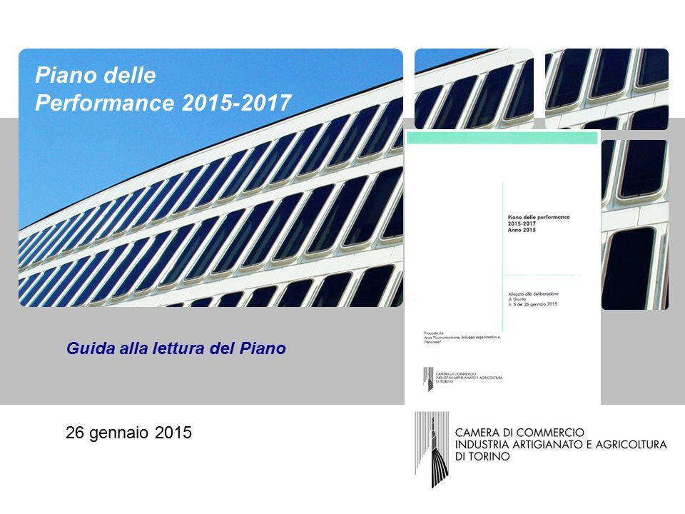 Guida alla lettura del Piano 26 gennaio 2015 Piano delle Performance 2015-2017