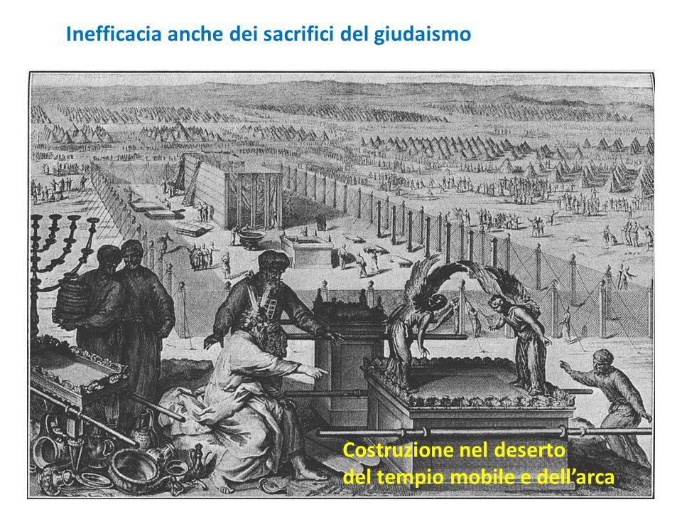 Costruzione nel deserto del tempio mobile e dell'arca Inefficacia anche dei sacrifici del giudaismo