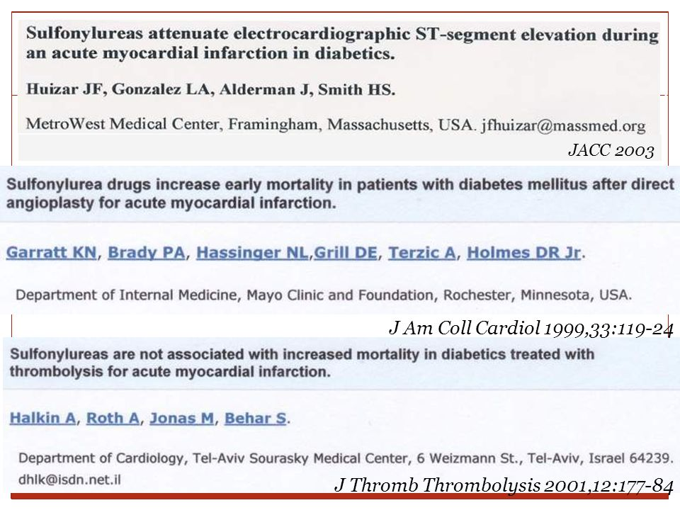 J Thromb Thrombolysis 2001,12:177-84 J Am Coll Cardiol 1999,33:119-24 JACC 2003