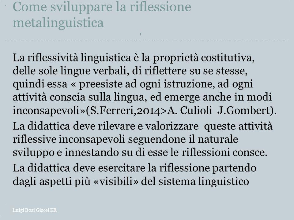 Come sviluppare la riflessione metalinguistica La riflessività linguistica è la proprietà costitutiva, delle sole lingue verbali, di riflettere su se