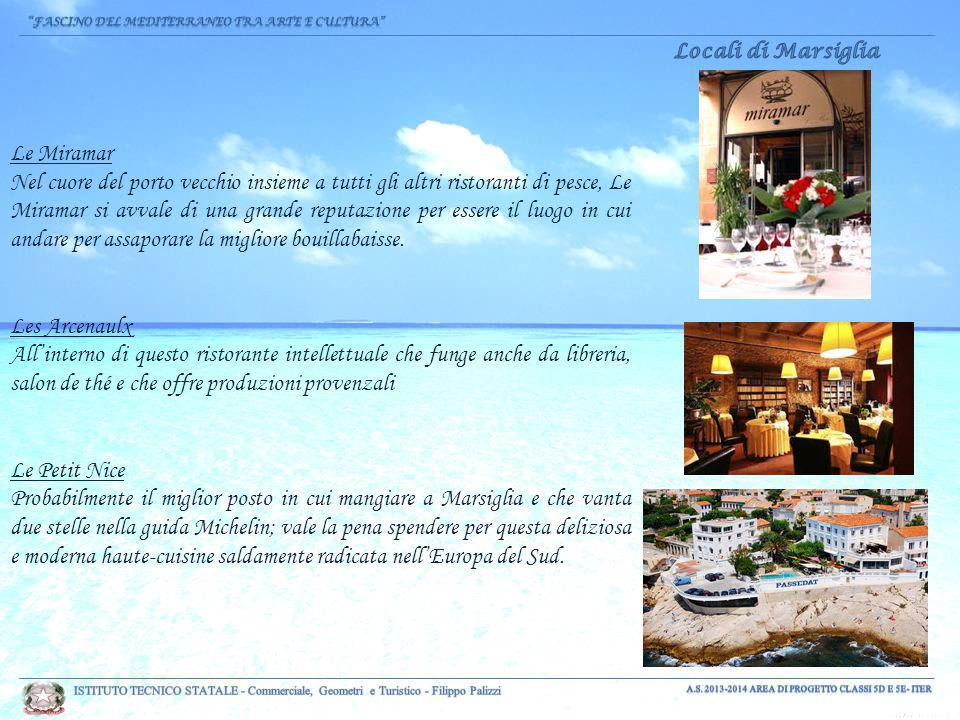 Le Miramar Nel cuore del porto vecchio insieme a tutti gli altri ristoranti di pesce, Le Miramar si avvale di una grande reputazione per essere il luogo in cui andare per assaporare la migliore bouillabaisse.