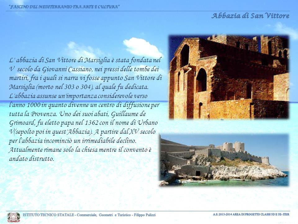 L abbazia di San Vittore di Marsiglia è stata fondata nel V secolo da Giovanni Cassiano, nei pressi delle tombe dei martiri, fra i quali si narra vi fosse appunto San Vittore di Marsiglia (morto nel 303 o 304), al quale fu dedicata.