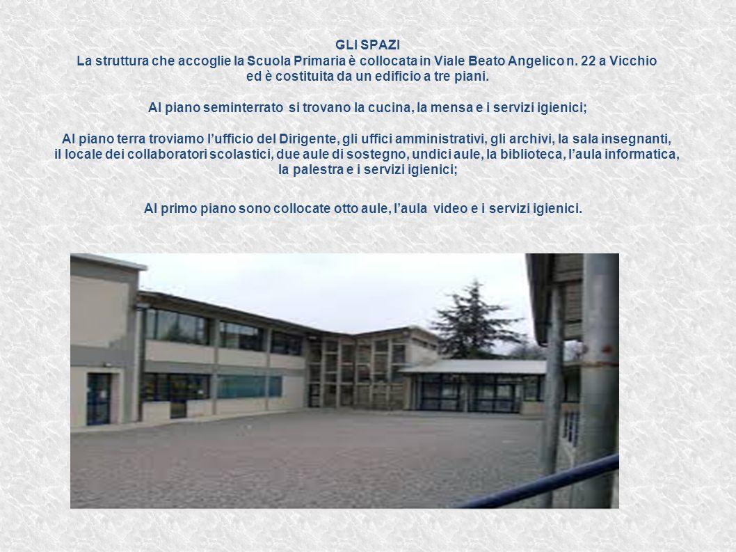 GLI SPAZI La struttura che accoglie la Scuola Primaria è collocata in Viale Beato Angelico n. 22 a Vicchio ed è costituita da un edificio a tre piani.