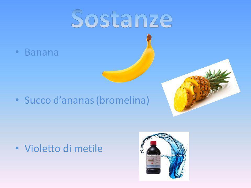 Banana Succo d'ananas (bromelina) Violetto di metile