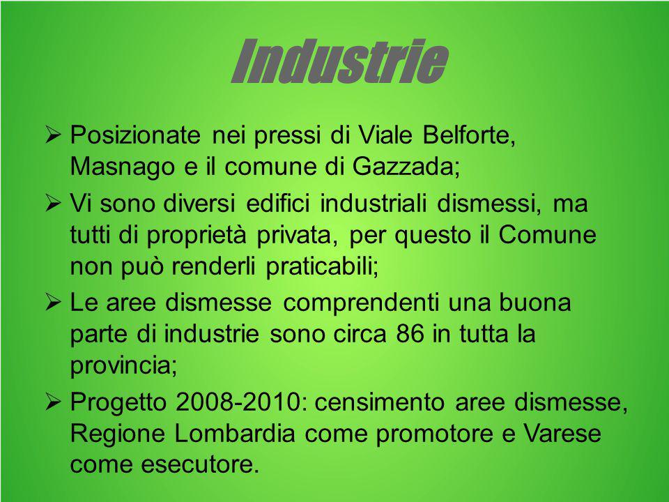 Alcune industrie dismesse del territorio… …nella periferia dei Comuni di Gallarate… …e Malnate.