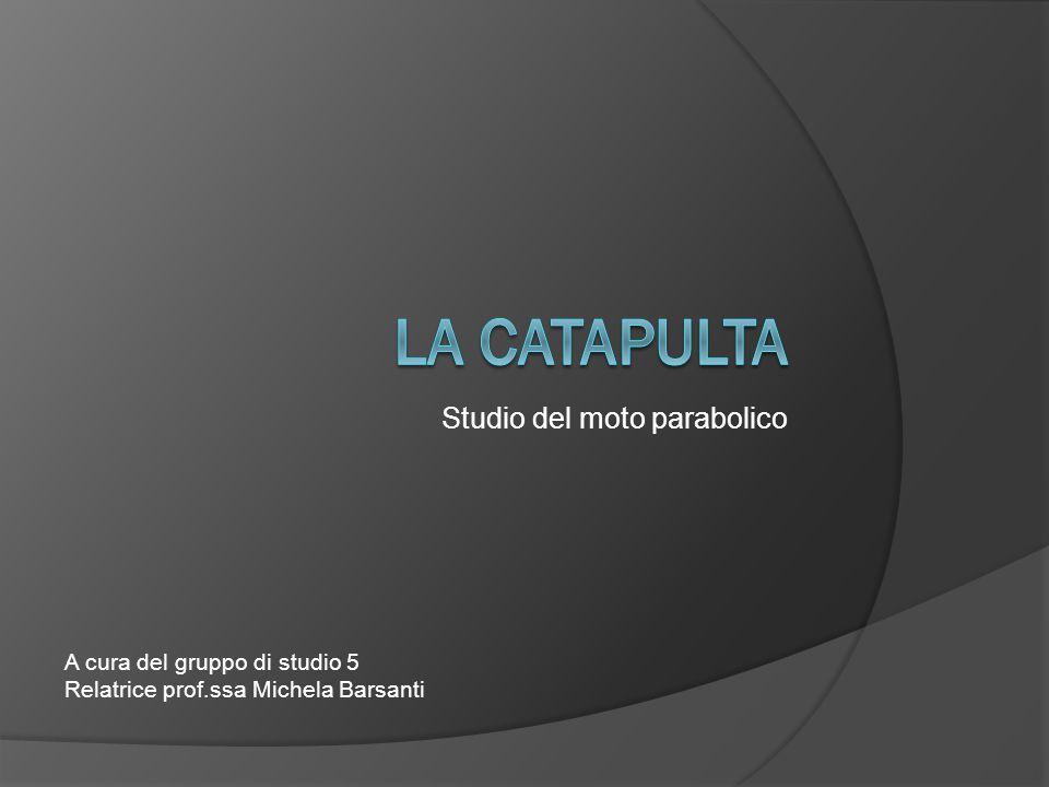 Studio del moto parabolico A cura del gruppo di studio 5 Relatrice prof.ssa Michela Barsanti