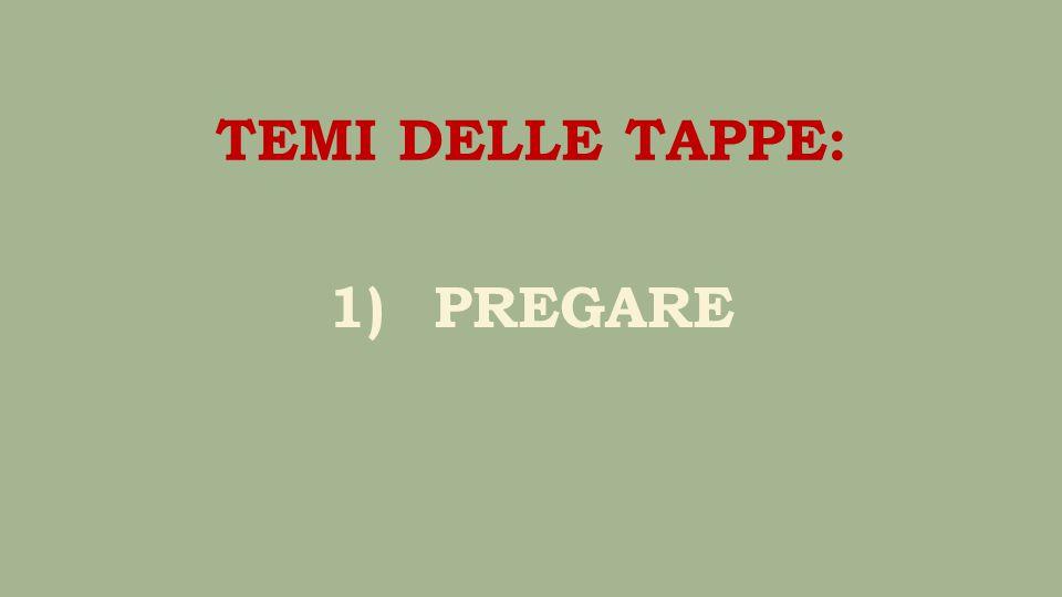 1)PREGARE TEMI DELLE TAPPE: