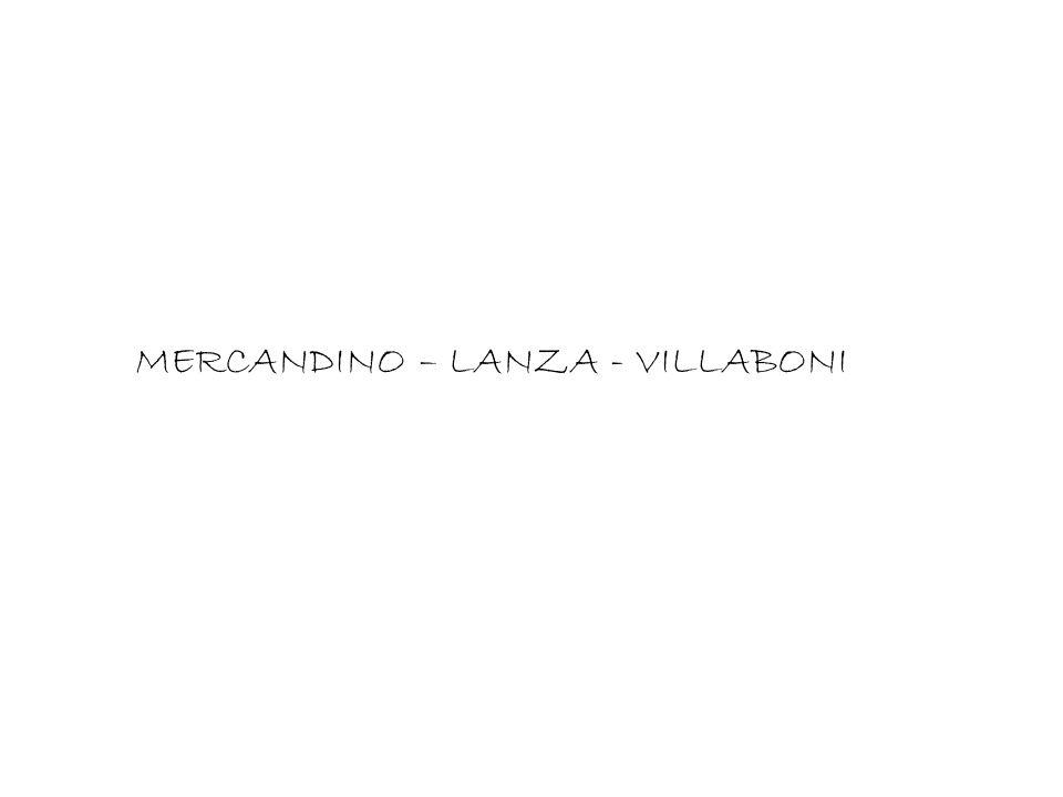 MERCANDINO – LANZA - VILLABONI