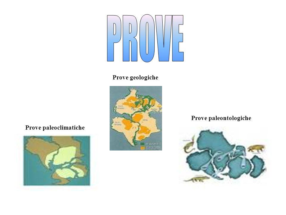 Prove geologiche Prove paleoclimatiche Prove paleontologiche