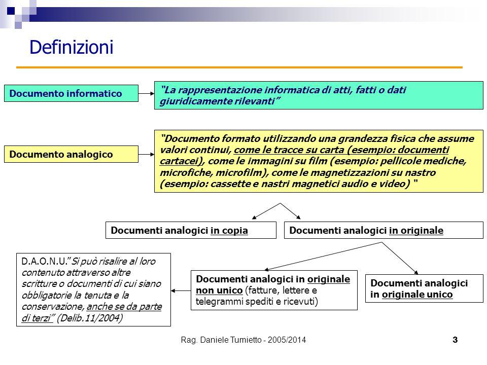 """3 Documento informatico Documento analogico """"La rappresentazione informatica di atti, fatti o dati giuridicamente rilevanti"""" """"Documento formato utiliz"""