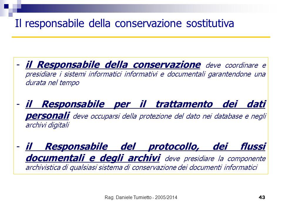-il Responsabile della conservazione deve coordinare e presidiare i sistemi informatici informativi e documentali garantendone una durata nel tempo -i