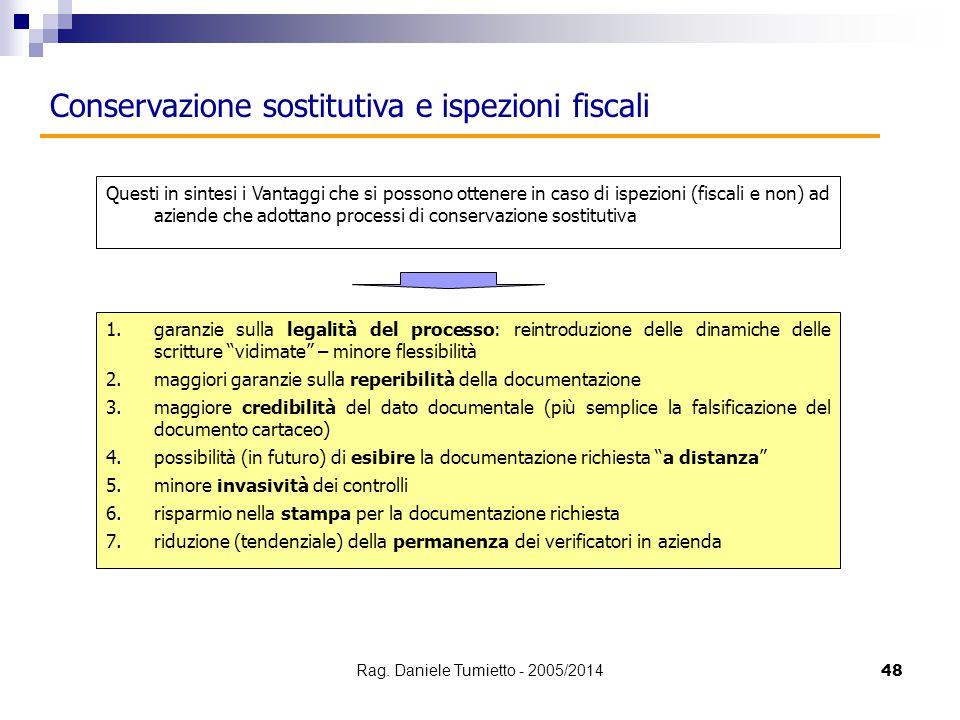 """48 Conservazione sostitutiva e ispezioni fiscali 1.garanzie sulla legalità del processo: reintroduzione delle dinamiche delle scritture """"vidimate"""" – m"""