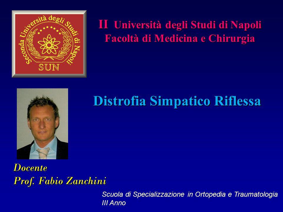 Docente Prof. Fabio Zanchini II Università degli Studi di Napoli Facoltà di Medicina e Chirurgia Distrofia Simpatico Riflessa Scuola di Specializzazio