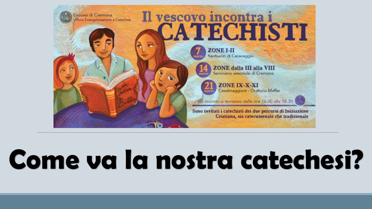 Come va la nostra catechesi?