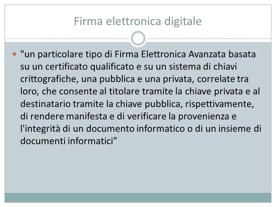 Firma elettronica digitale