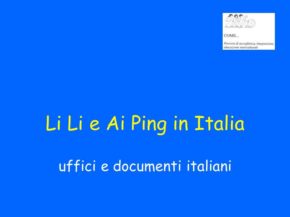 Li Li e Ai Ping in Italia uffici e documenti italiani