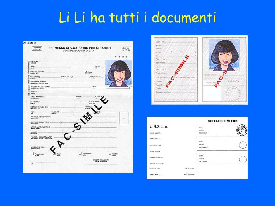 Li Li ha tutti i documenti