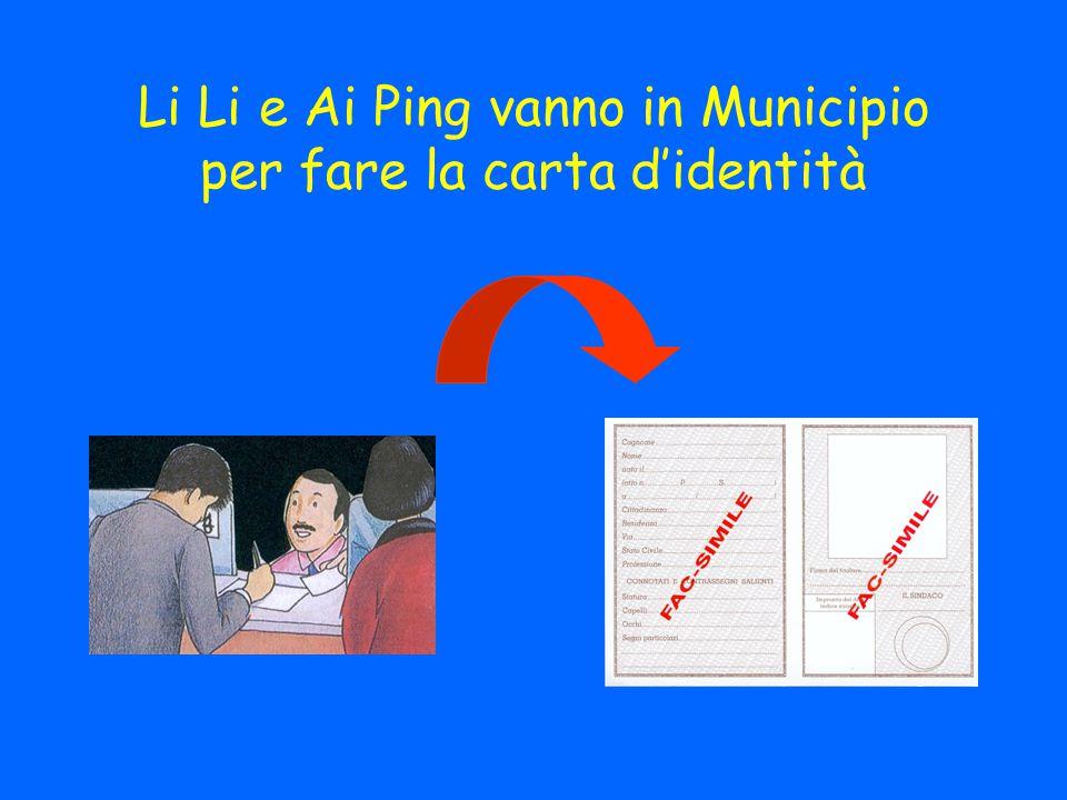 Li Li e Ai Ping vanno in Municipio per fare la carta d'identità