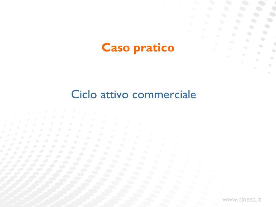 www.cineca.it Caso pratico Ciclo attivo commerciale