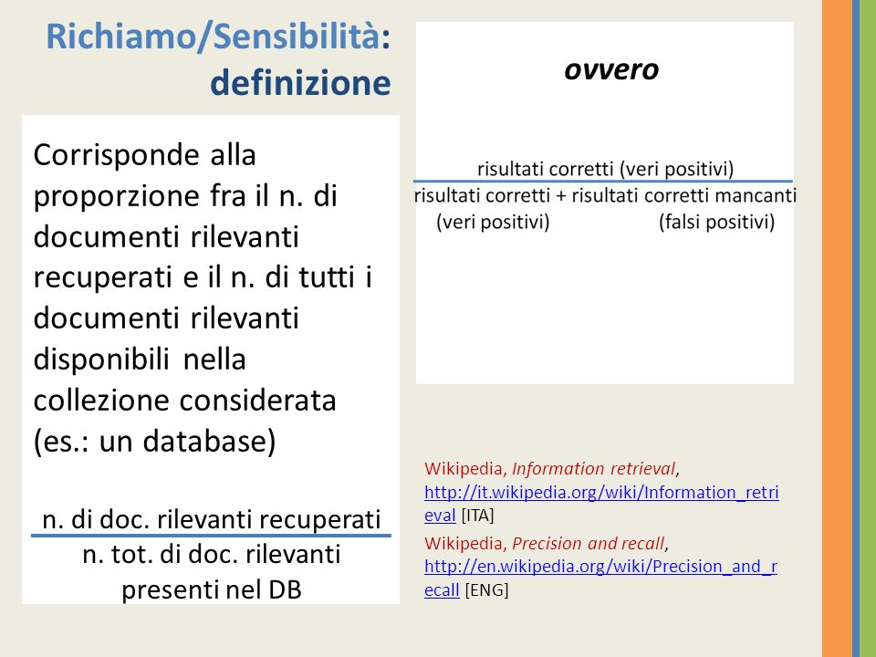 Iter del record bibliografico PubMed – As supplied by publisher (segnalazione bibliografica; spesso e-pub) PubMed – in processs (inserimento dei metadati descrittivi: campi Authors, Title, Source, Abstract) PubMed – indexed for Medline (descrizione semantica = indicizzazione: assegnazione delle parole di tesauro nel campo MESH) RECORD COMPLETO E DEFINITIVAMENTE ARCHIVIATO IN DB
