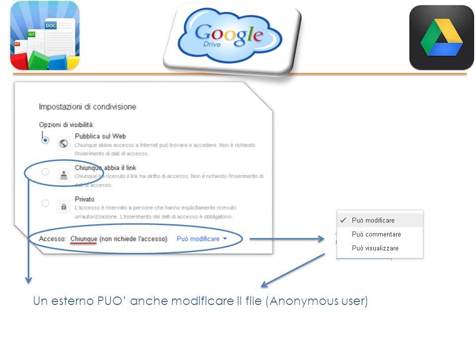 Un esterno PUO' anche modificare il file (Anonymous user)