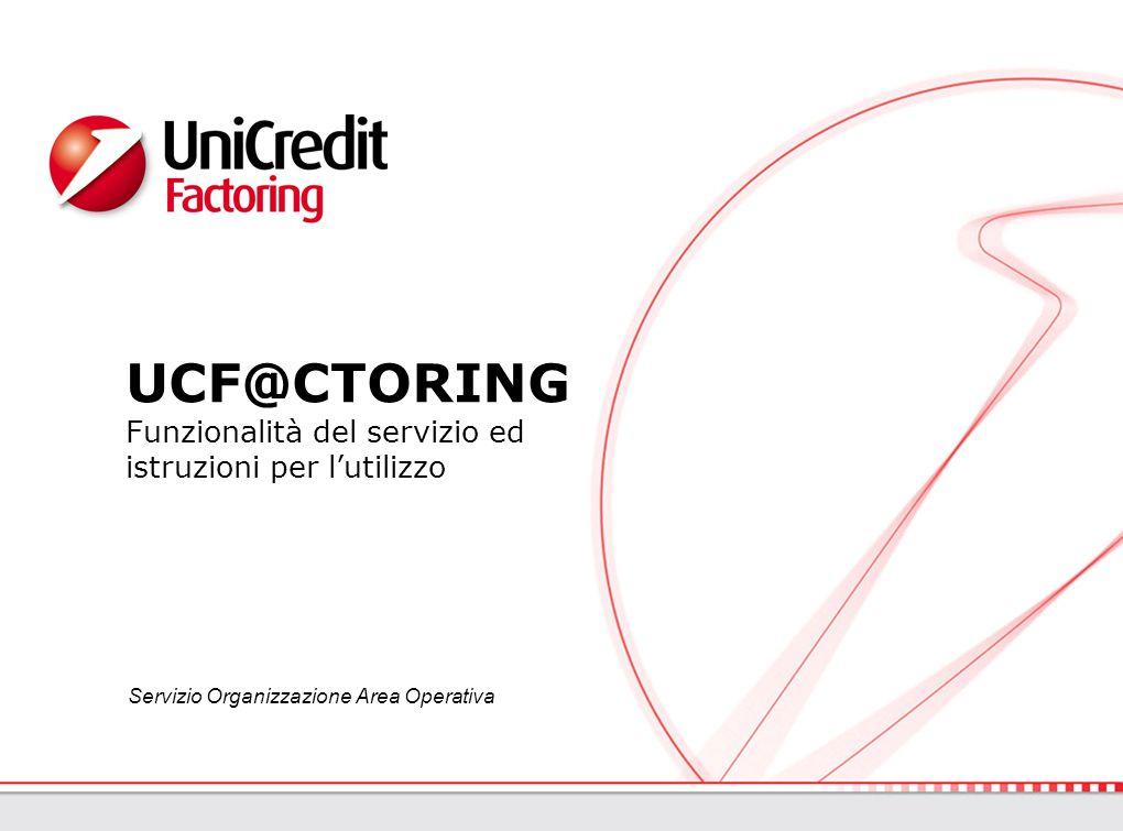 UCF@CTORING Funzionalità del servizio ed istruzioni per l'utilizzo Servizio Organizzazione Area Operativa