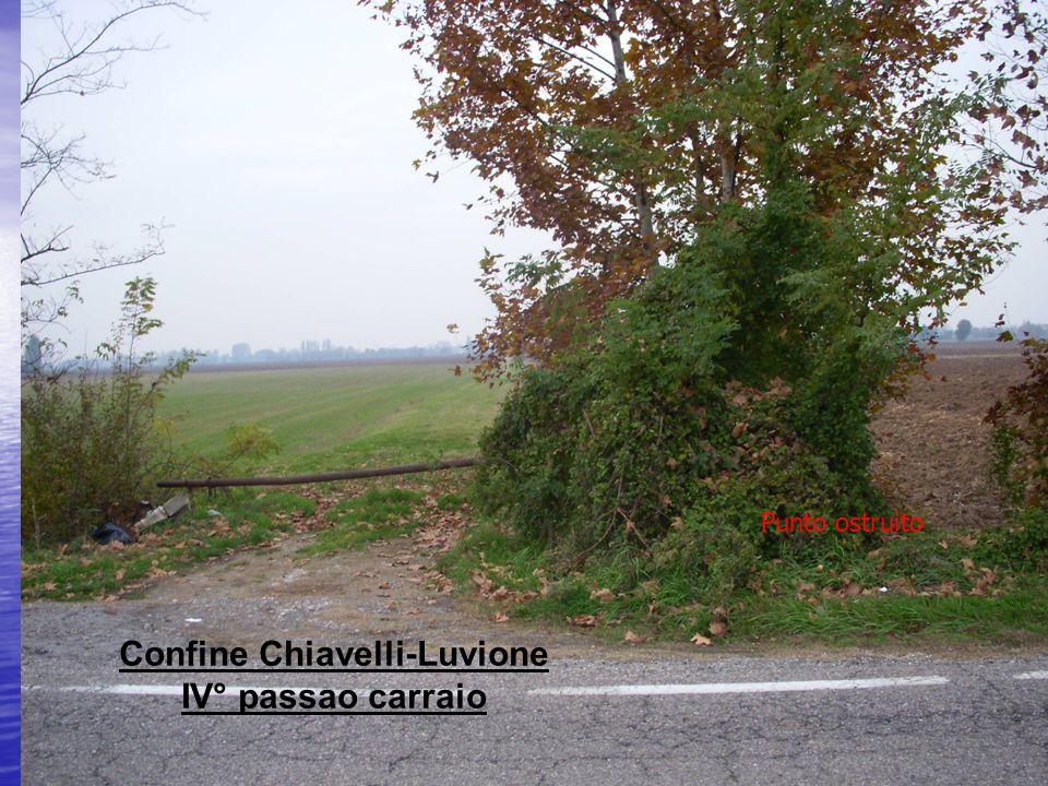 Confine Chiavelli-Luvione IV° passao carraio Punto ostruito