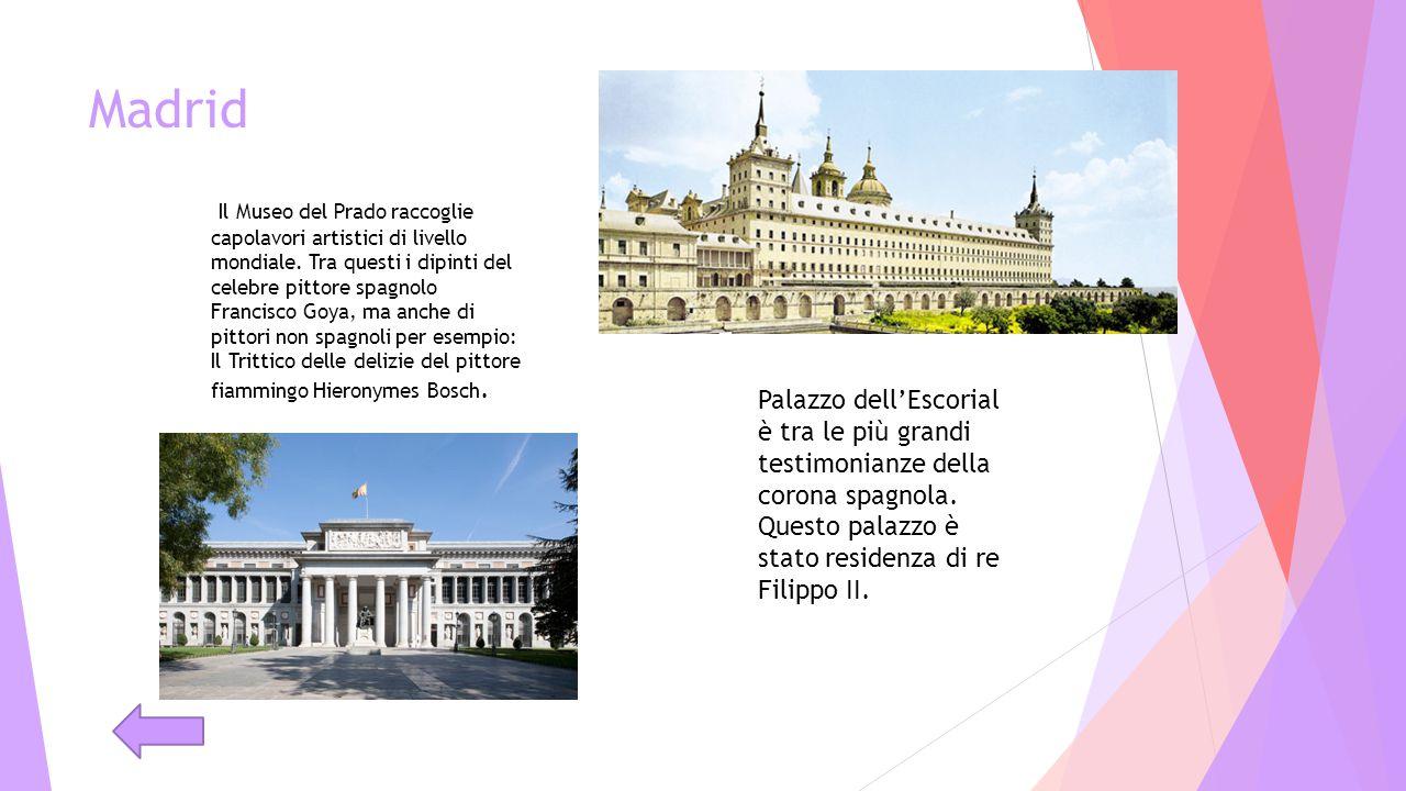 Madrid Il Museo del Prado raccoglie capolavori artistici di livello mondiale. Tra questi i dipinti del celebre pittore spagnolo Francisco Goya, ma anc