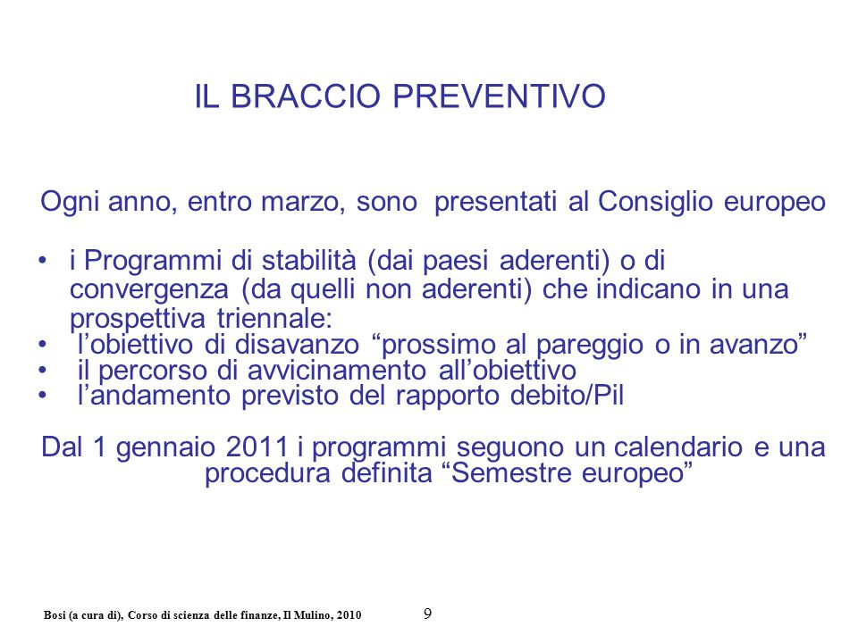 Bosi (a cura di), Corso di scienza delle finanze, Il Mulino, 2010 Sanzioni.