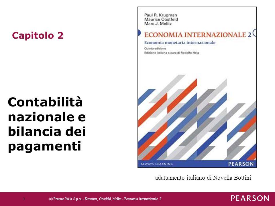 (c) Pearson Italia S.p.A. - Krurman, Obstfeld, Melitz - Economia internazionale 21 Capitolo 2 Contabilità nazionale e bilancia dei pagamenti adattamen