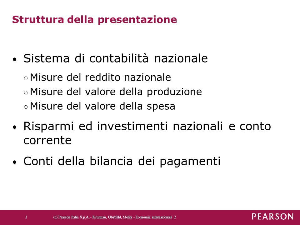 Tabella 13.2 La bilancia dei pagamenti degli Stati Uniti e dell'Italia nel 2010 (c) Pearson Italia S.p.A.