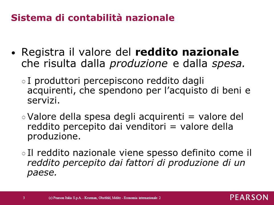 Tabella 13.2 La bilancia dei pagamenti degli Stati Uniti e dell'Italia nel 2010 (cont.) (c) Pearson Italia S.p.A.