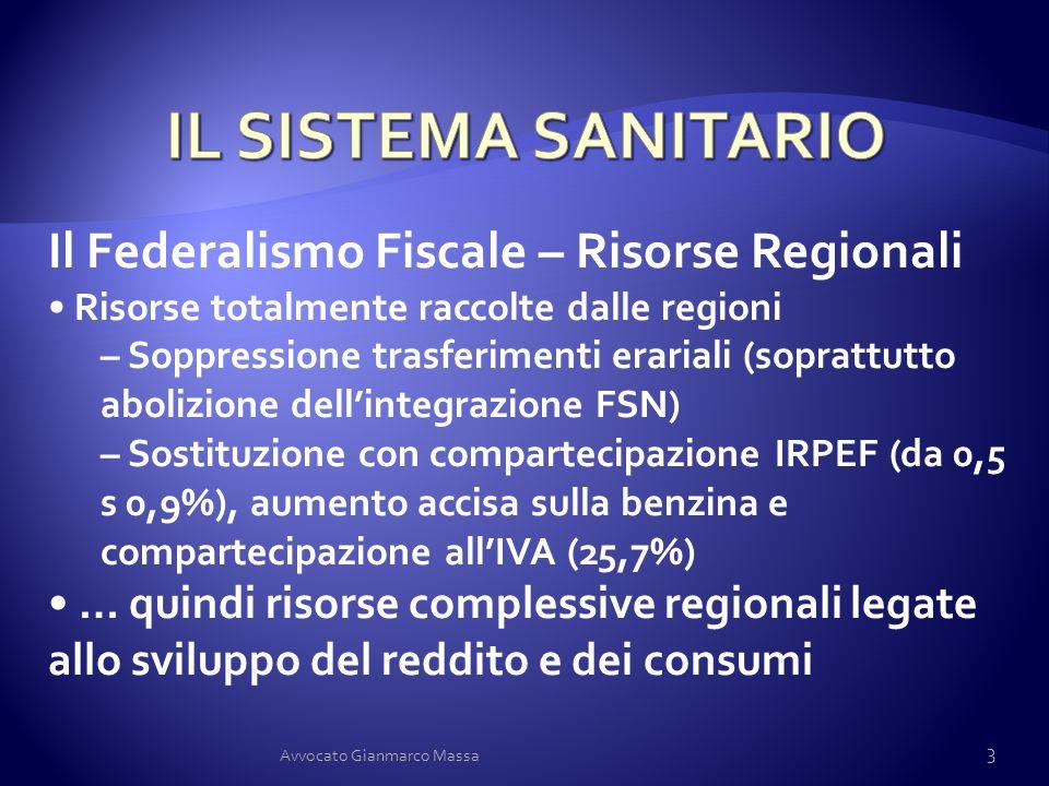 Il Federalismo Fiscale – Risorse Regionali Risorse totalmente raccolte dalle regioni – Soppressione trasferimenti erariali (soprattutto abolizione del