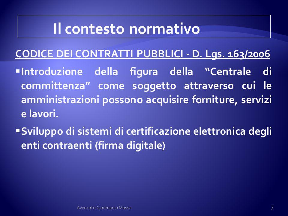 """CODICE DEI CONTRATTI PUBBLICI - D. Lgs. 163/2006  Introduzione della figura della """"Centrale di committenza"""" come soggetto attraverso cui le amministr"""