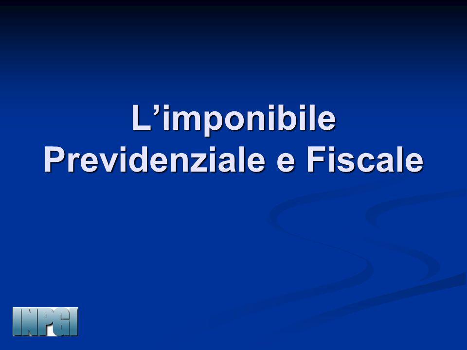 L'imponibile Previdenziale e Fiscale