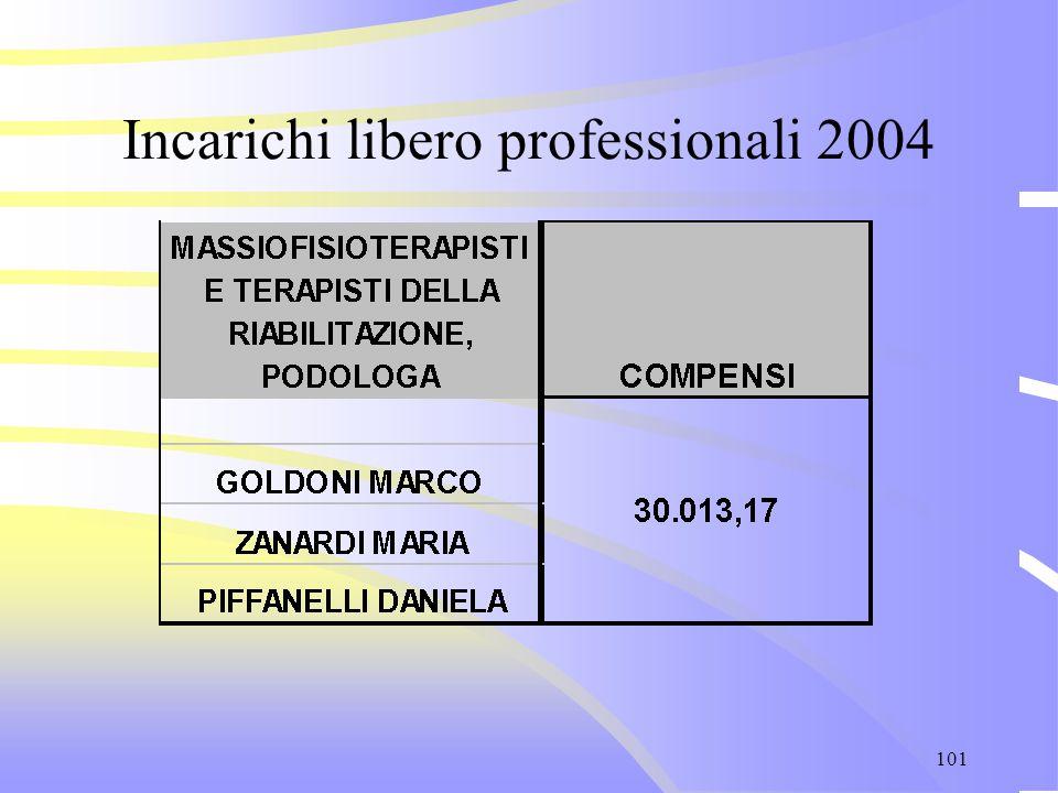 101 Incarichi libero professionali 2004