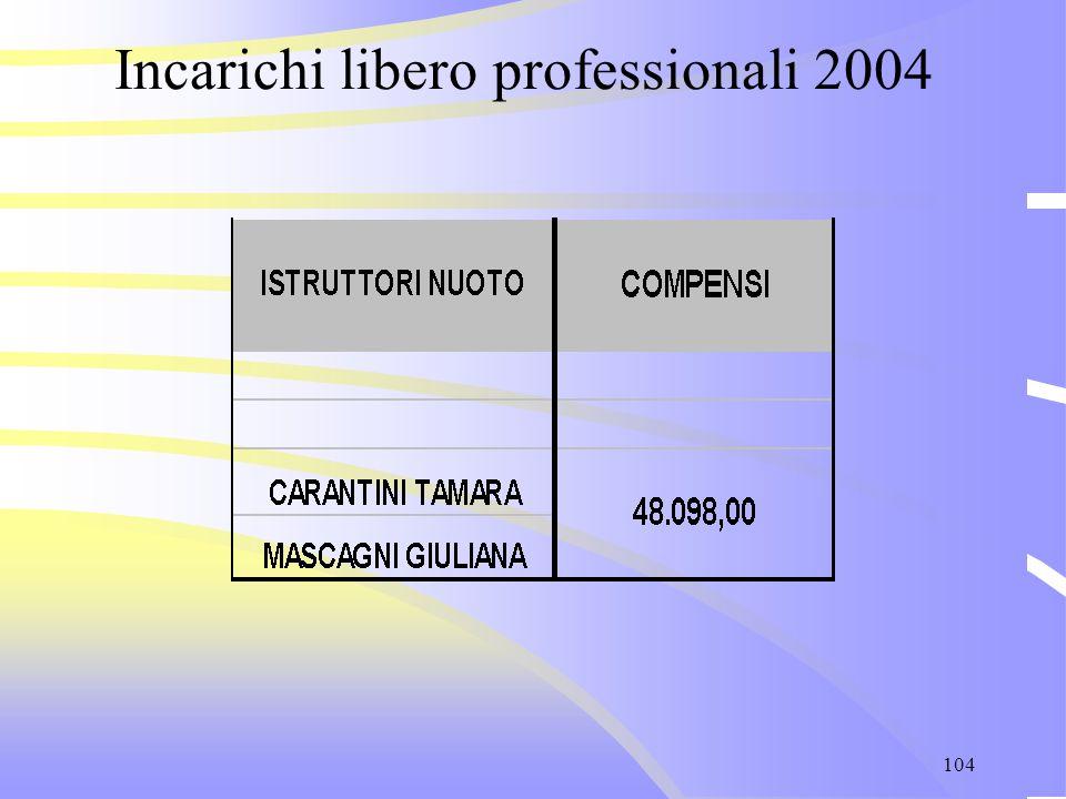 104 Incarichi libero professionali 2004