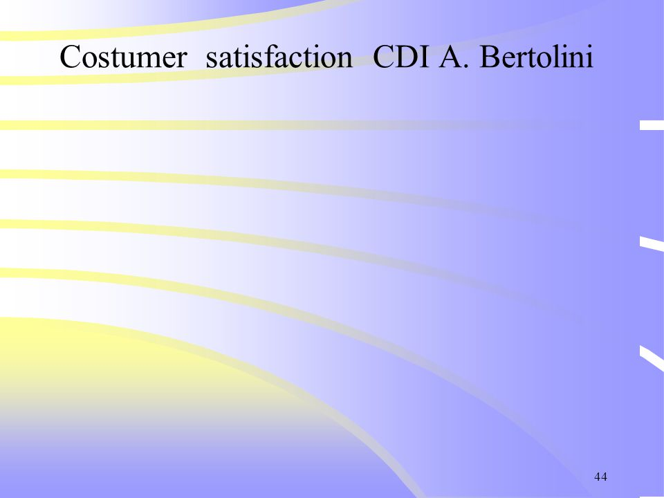 44 Costumer satisfaction CDI A. Bertolini