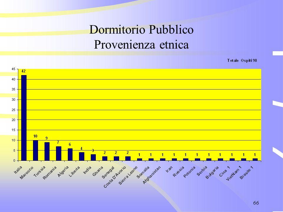 66 Dormitorio Pubblico Provenienza etnica
