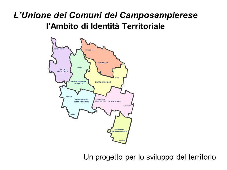 L'Unione dei Comuni del Camposampierese l'Ambito di Identità Territoriale Un progetto per lo sviluppo del territorio